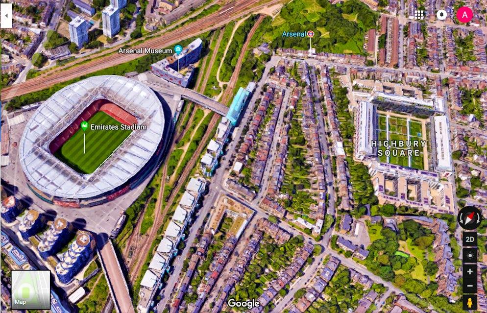 Highbury Square The Remains Of A Stadium