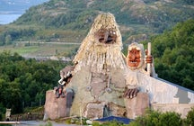 ¡El parque de trolls en Senja, Noruega!