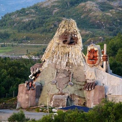 The park of trolls in Senja, Norway!