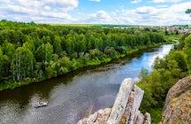 Chusovaya River: among the Ural rocks and forests