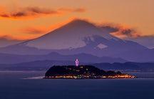 Enoshima Island: shrines, caves & Mt. Fuji views