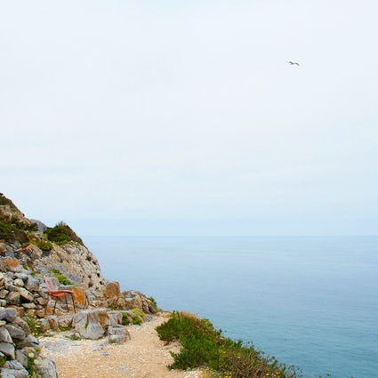 Peaceful cliff trails around Praia da Adraga