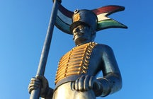 Miska, the 13-meter-high symbol of Hungarian heroism