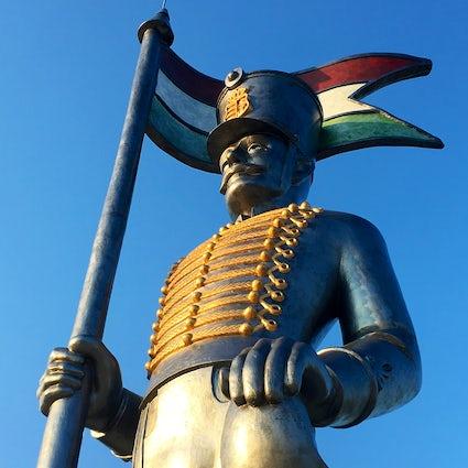 Miska, the 13-meter-high symbol of Hungarian heroism