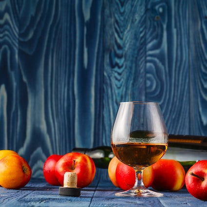 Calvados, an apple brandy made in Normandy