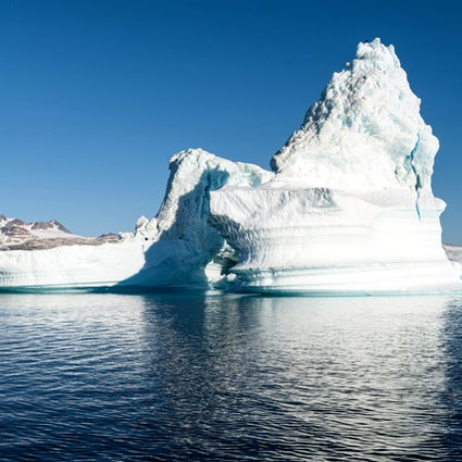 Sailing around the Icebergs in Greenland