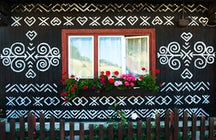 Admire Slovak folk art in Čičmany open-air museum