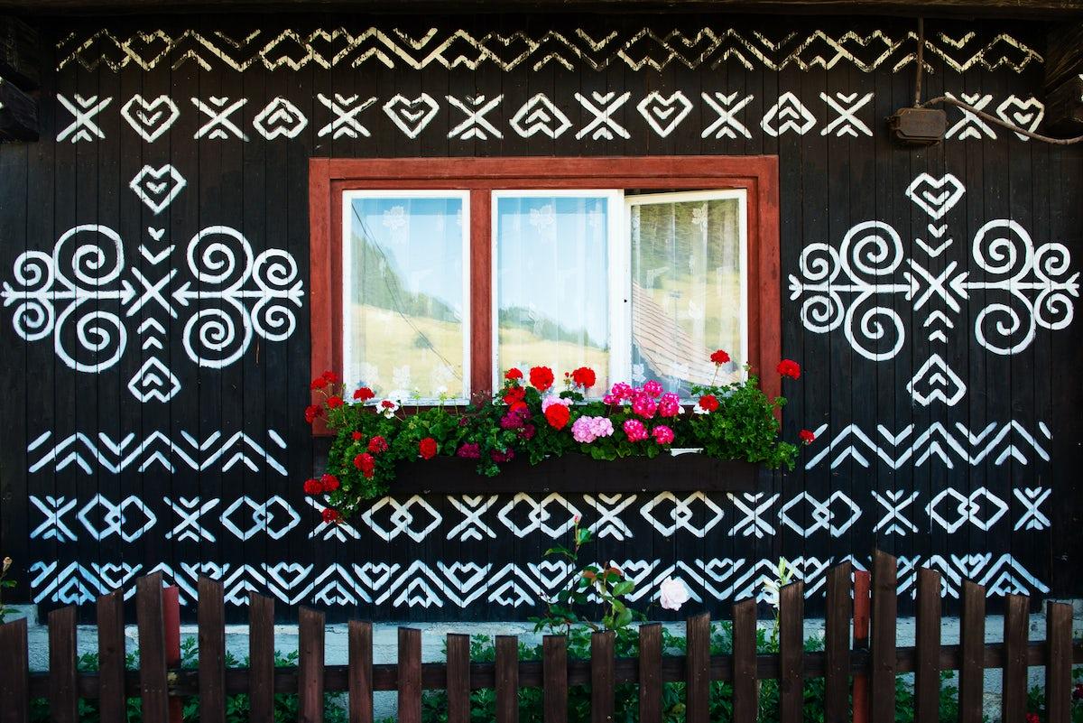 Admire Slovak folk art in Čičmany open-air museum