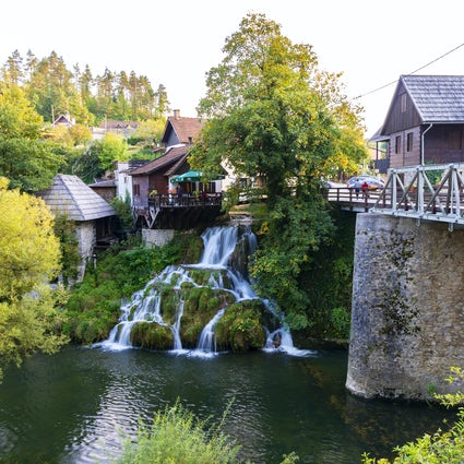 A fairytale landscape of Slunj