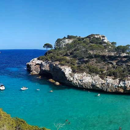 A day in paradise of Cala del Moro, Mallorca