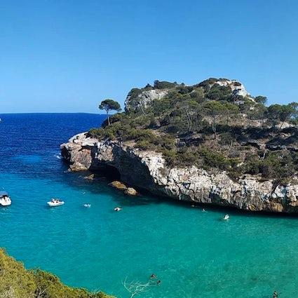 A day in paradise of Cala del Moro, Mallorca