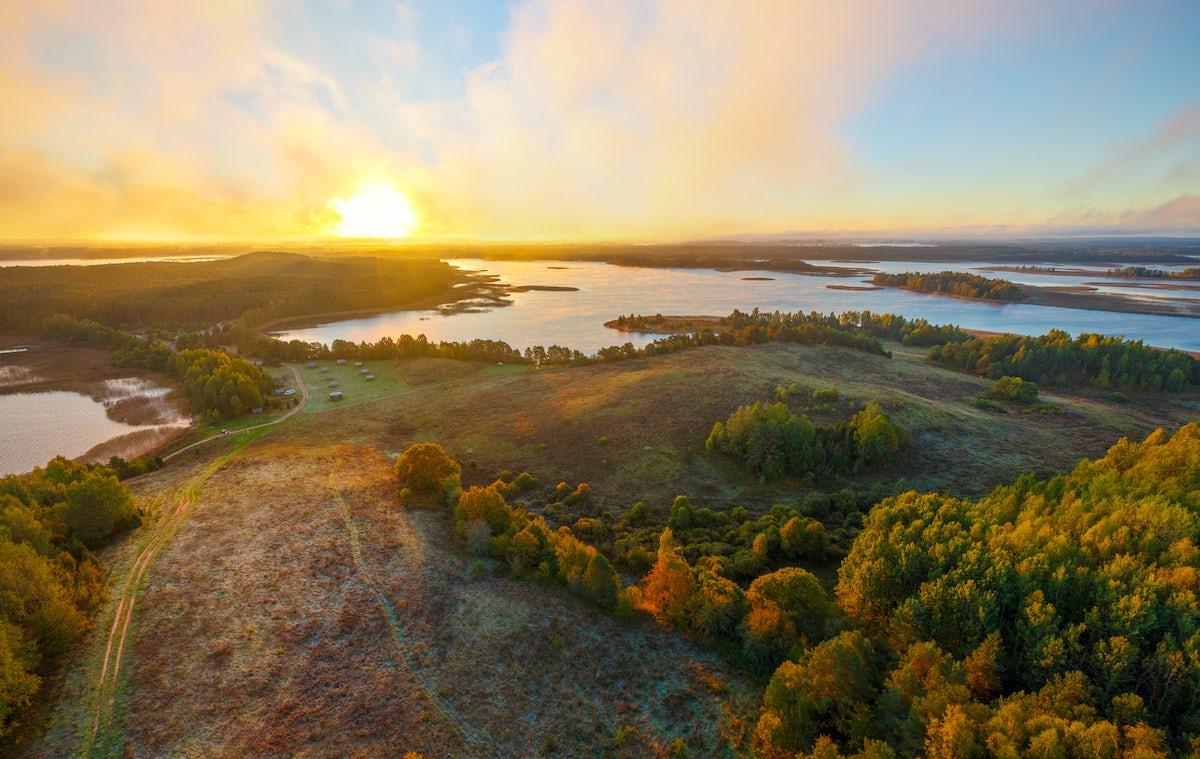 """Braslav Lakes National Park: """"the blue necklace"""" of Belarus"""