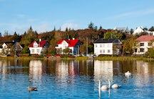 Tjornin: ein schöner See von Reykjavik