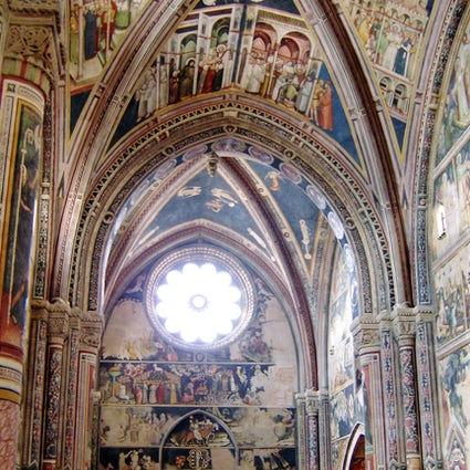 La Basilique Sainte Catherine d'Alexandrie (Pouilles), une église aux fresques magistrales