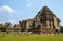 Un día en la antigua ciudad de Konark en Odisha