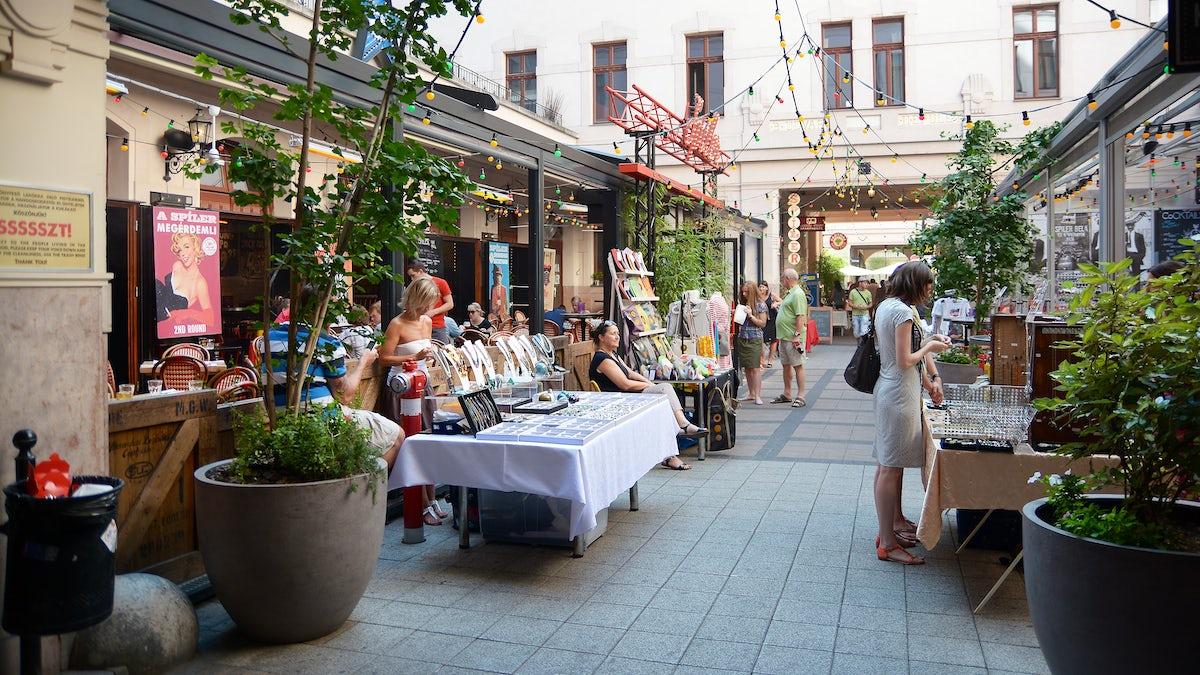 The arcade of Budapest's essence: Gozsdu Courtyard