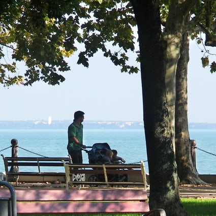 Tagore Promenade, the greenest street at Lake Balaton