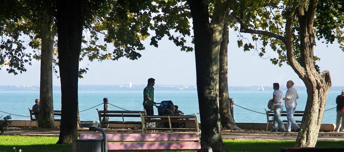 Tagore Promenade, the greenest street at Lake Balaton