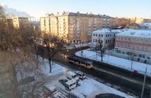 Shabolovka, an old peaceful street in the center of Moscow