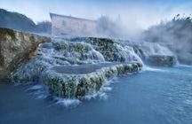 Aguas termales en el sur de la Toscana