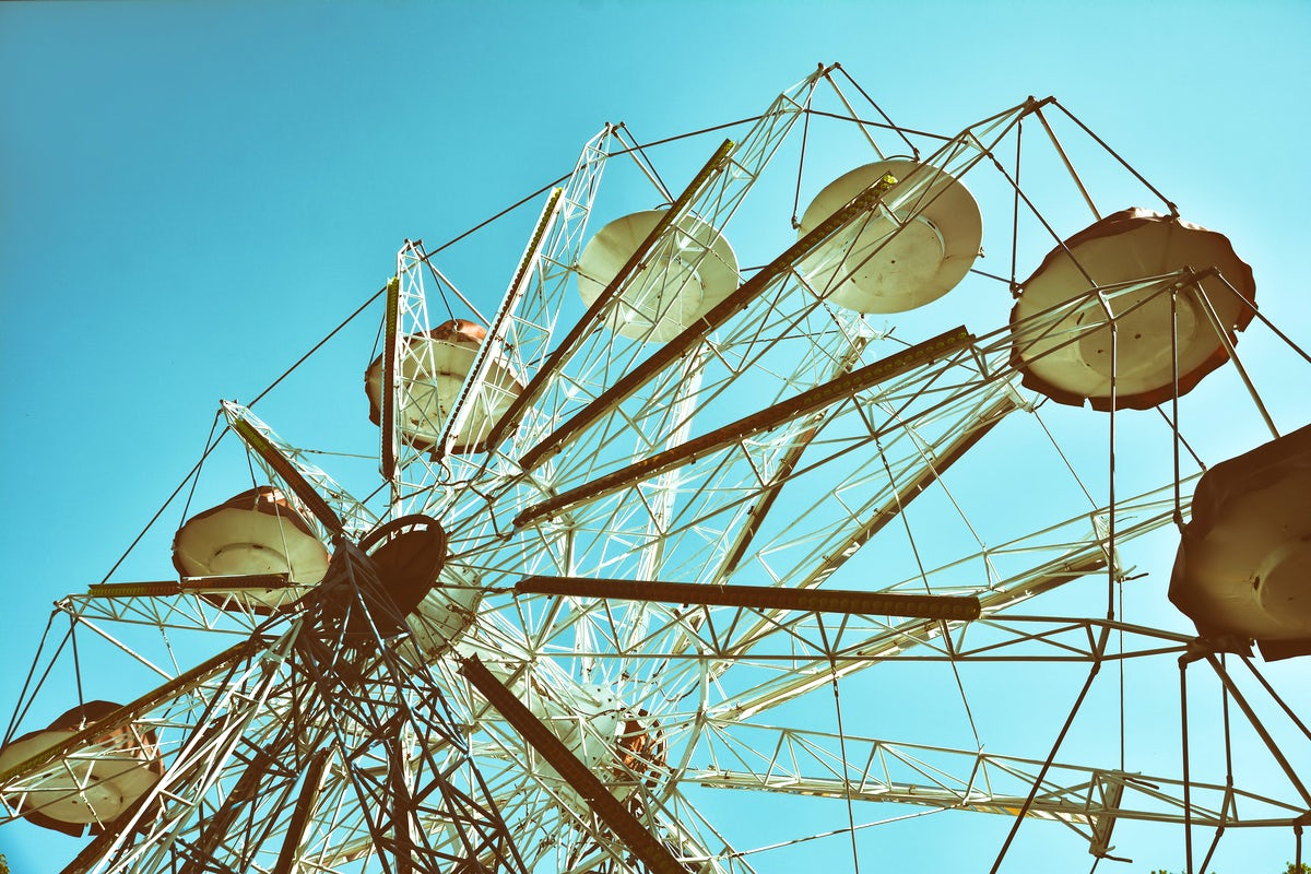 The oldest amusement park in Kaunas - Vytautas park