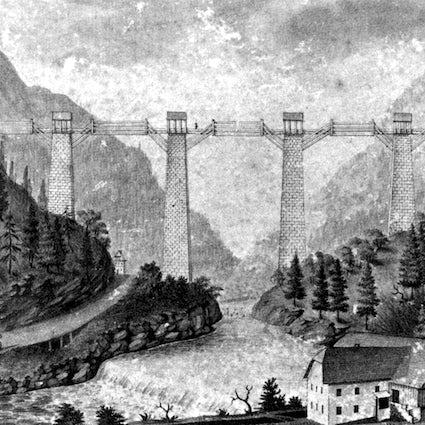 Die älteste Industriepipeline - Wanderweg