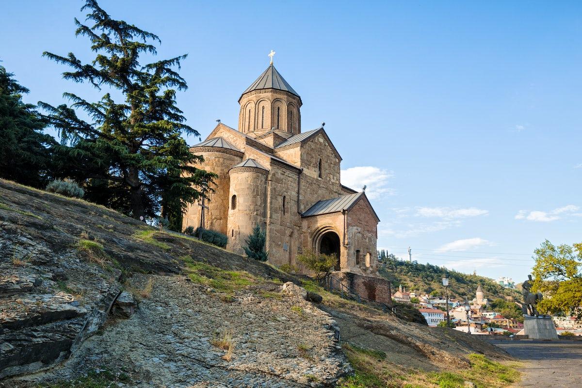 Metekhi Church, an ancient monument of Tbilisi