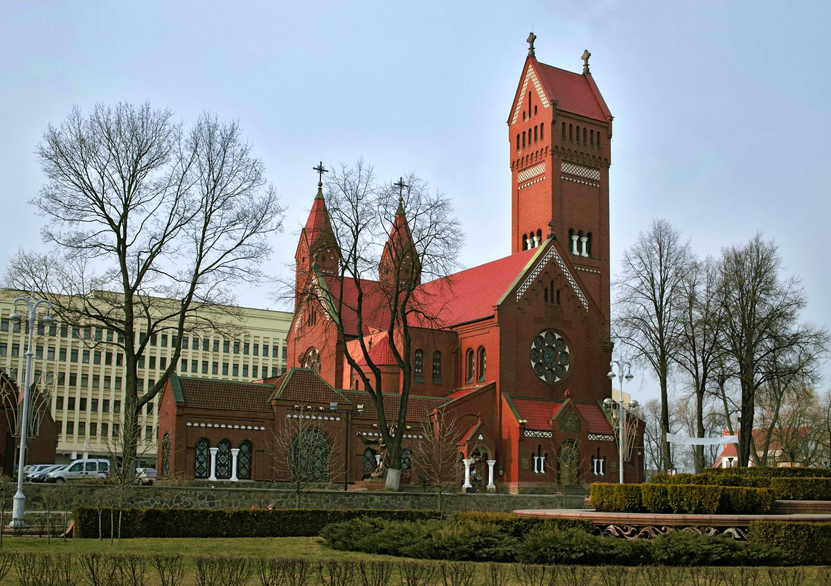 The Red Church in Minsk, an important historical center
