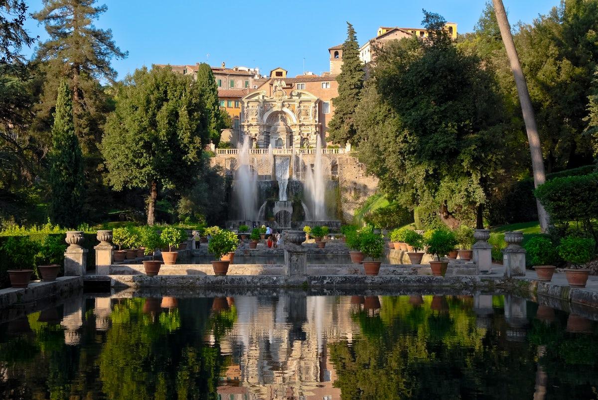 Villa d'Este, a 500 years old water park