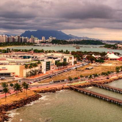 Einkaufszentren am Strand in Grande Vitória