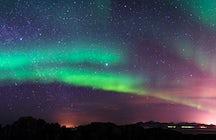 Jagd auf Polarlichter in Island