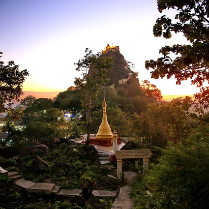 Mt. Popa in Central Myanmar: the abode of gods