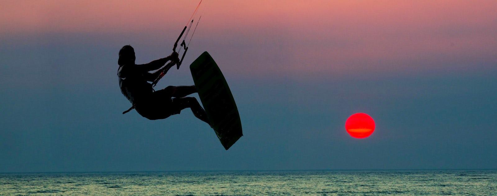 Hacer kite surf en Turquía