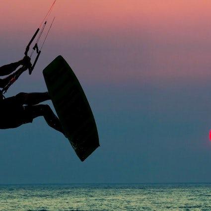 Velika Plaža, meilleure destination de kitesurf en Adriatique