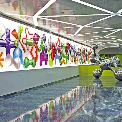 Travel through art- University Station of the Naples Metro