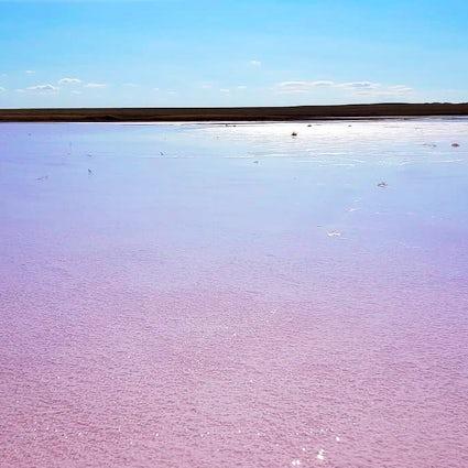 La toute dernière découverte au Kazakhstan : le Lac Rose de Kobeituz