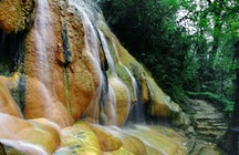 Nature's own hot shower at Pancuran Pitu, Central Java