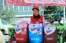 Einzigartiges Getränk Maksym Shoro, ein Symbol Kirgisistans.