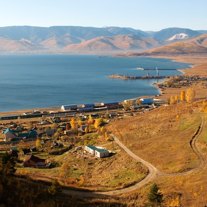 Kultuk, a village on Lake Baikal named after Siberian wind