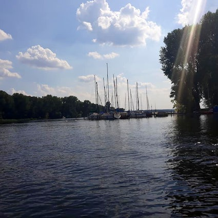 Saturday at Wannsee lake of Berlin