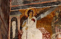 Serbian White Angel fresco that traveled beyond our planet