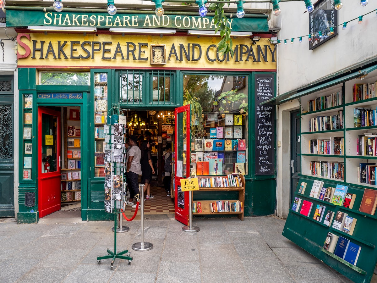 Bookshops in Paris: Shakespeare and company