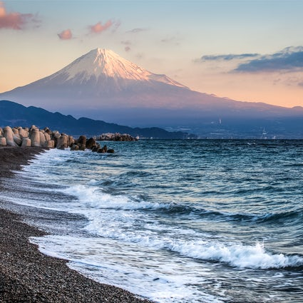 Bekijk Mt. Fuji van Miho No Matsubara