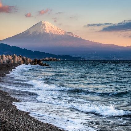 Vue sur le Mont Fuji depuis Miho No Matsubara