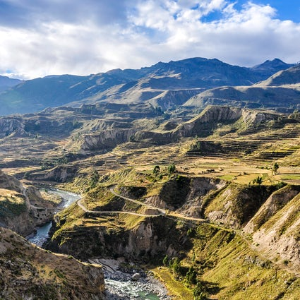 Trekking on a breathtaking scenery in Colca Canyon