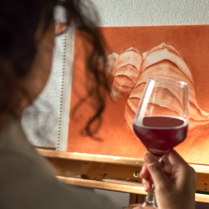 Wine and art at Dalivino Gallery in Sofia