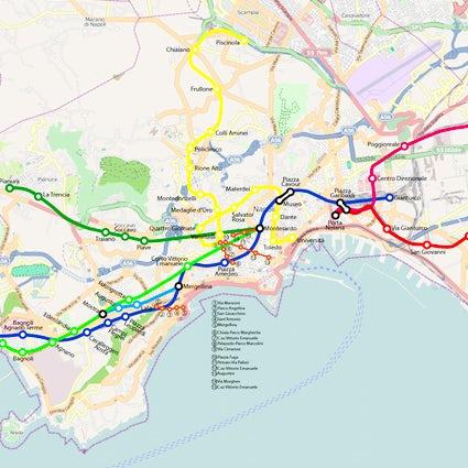 Una práctica guía del metro de Nápoles