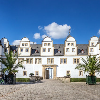 The baroque gardens of Neuhaus Castle
