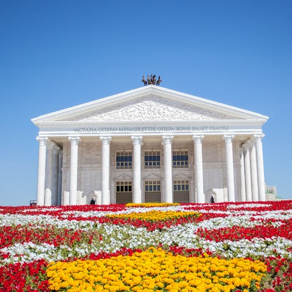 The Astana Opera and Ballet Theater in Nur-Sultan
