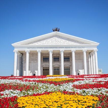 El Teatro de Ópera y Ballet de Astana en Nur-Sultan